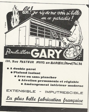 Poulailler Gary , fabrication française ; garantie à vie